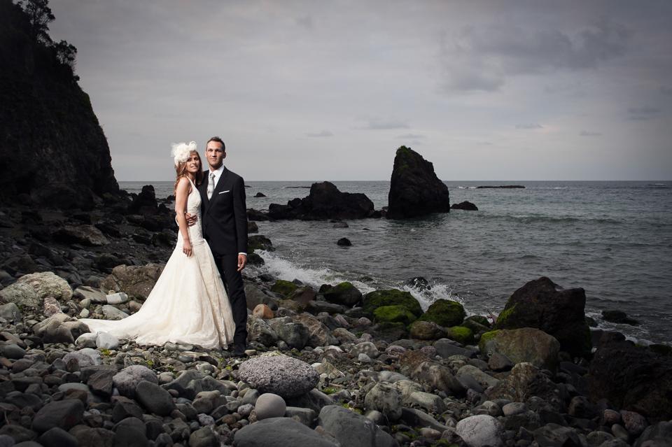 Hochzeitsfotografie an der Küste von Laredo, Spanien