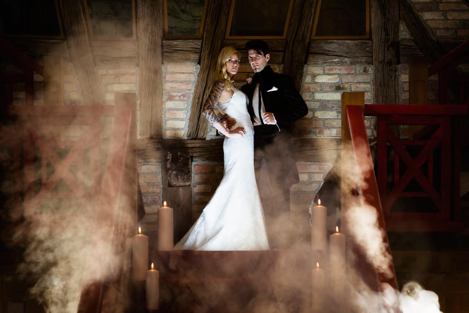 Rockstar Hochzeit mit Halloween Schlagzeuger Dani Löble